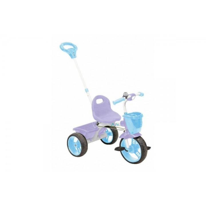 Велосипед 3х колесный с кузовком и ручкой Nika