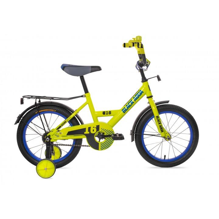 Велосипед детский Black Aqua 1602 лимонный, колесо 16