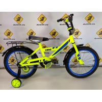 Велосипед детский Black Aqua 1802 лимонный, колесо 18