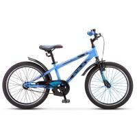Велосипед детский Stels Pilot 200 Boy 2021г, колесо 20, рама 11, синий