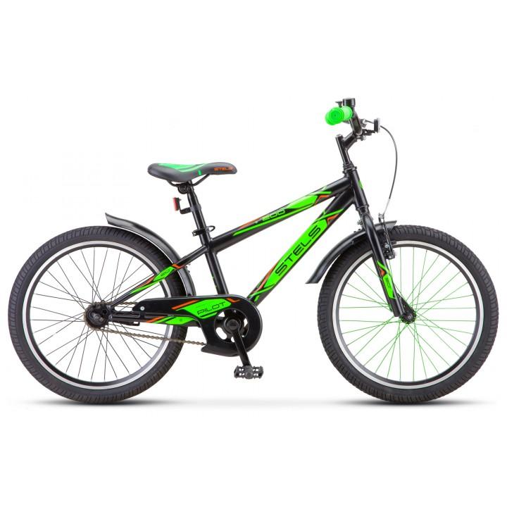 Велосипед детский Stels Pilot 200 Boy 2021г, колесо 20, рама 11, зеленый
