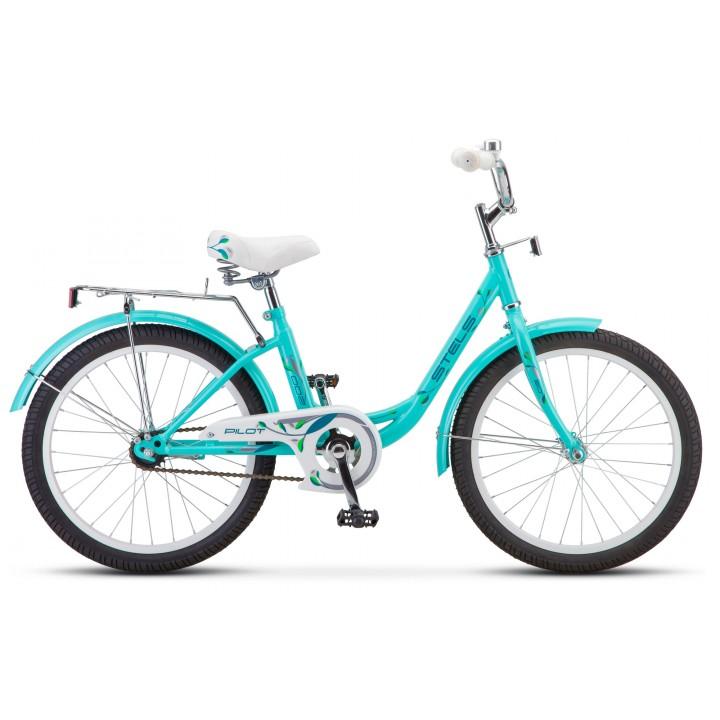 Велосипед детский Stels Pilot 200 Lady 2021г, колесо 20, рама 12, мятный