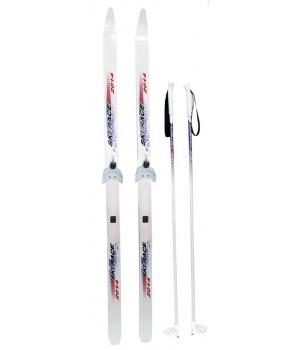 Лыжи подростковые Ski Race c палками (140/105)