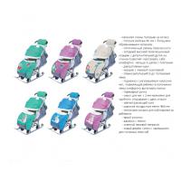 Санки-коляска Ника-Детям 7-2 со спинкой на три положения и ручкой вперед-назад