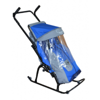 Санки-коляска Герда 4 с передними и задними колесами и ручкой вперед-назад