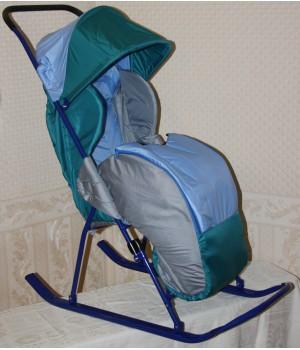 Санки-коляска Снежинка