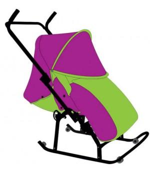 Санки-коляска Кенгуру 7 Азбука спинка на три положения