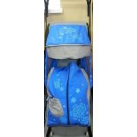 Санки-коляска Герда 4 P2 с передними и задними колесами и ручкой вперед-назад