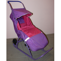Санки-коляска с большими колесами СУ 10-3
