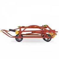 Санки с большими выдвижными колесами Nikki 3 N3, ножное переключение