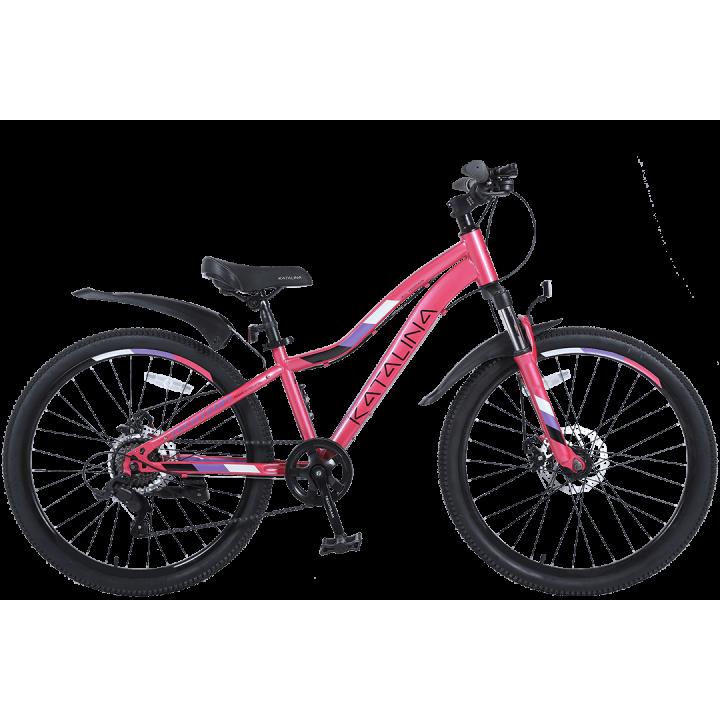 Велосипед подростковый Tech Team KATALINA 24 2021 розовый 2021г. колесо 24, c дисковыми тормозами