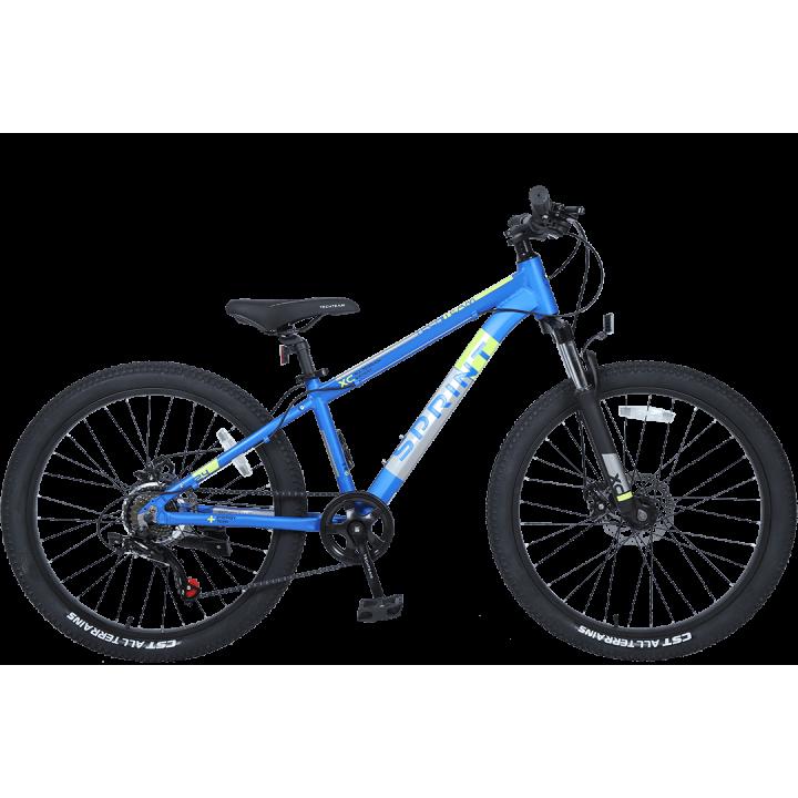 Велосипед подростковый Tech Team SPRINT 24 синий 2021г. колесо 24, c дисковыми тормозами