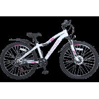 Велосипед подростковый Tech Team KATALINA 24 2021 бирюзовый 2021г. колесо 24, c дисковыми тормозами
