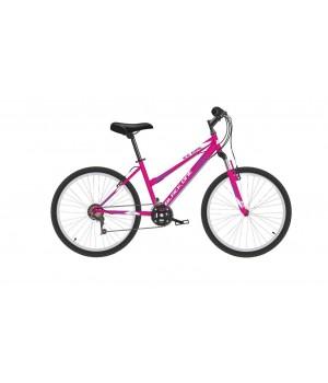 Велосипед подростковый Black One Ice Girl 24 розовый/белый/фиолетовый 2021г. колесо 24