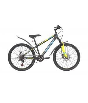 Велосипед подростковый Rush Hour RX 405 MD черный 2021г. колесо 24, c дисковыми тормозами