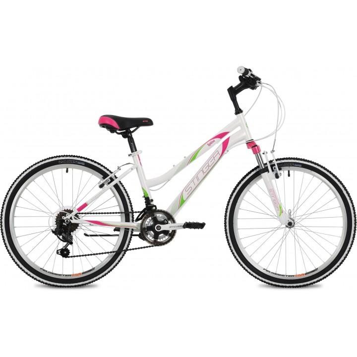 Велосипед подростковый STINGER LATINA 24  белый 2021г. колесо 24