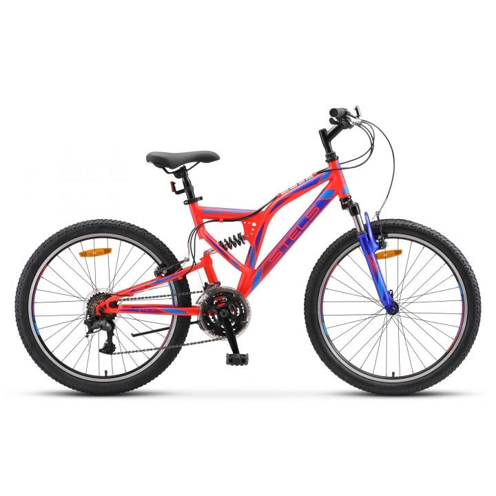 Велосипед подростковый Stels Mustang V, колесо 24 передний и задний амортизатор