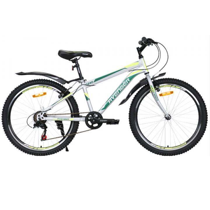 Велосипед подростковый Avenger C 240 V cерый/ желтый 2021г. колесо 24