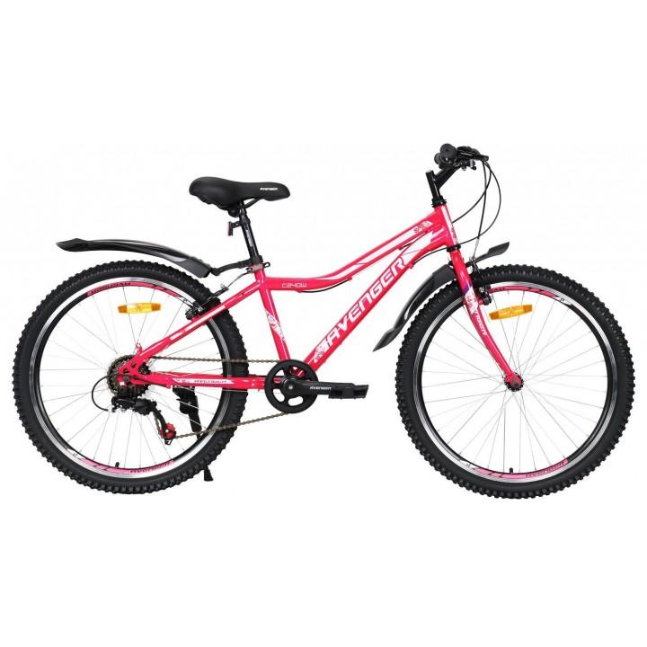Велосипед подростковый Avenger C 240 W фиолетовый 2021г. колесо 24