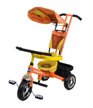 Велосипед детский 3х колесный с ручкой Trike