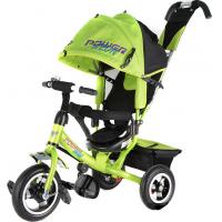 Велосипед детский 3х колесный с ручкой Power Neon JP7NO / JP7NY / JP7NG c накачивающимися колесами
