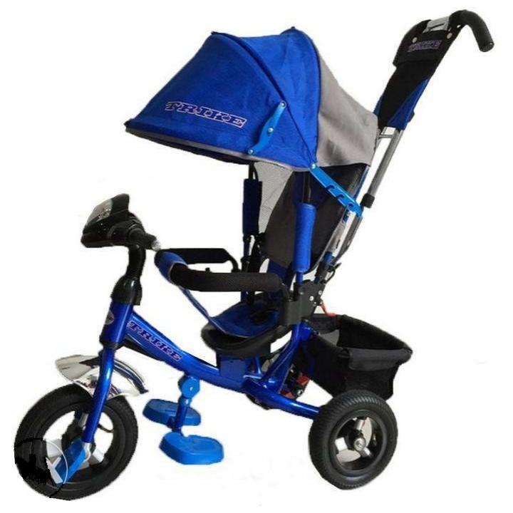 Велосипед детский 3х колесный с ручкой Trike TL3B c накачивающимися колесами