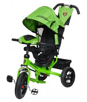 Велосипед детский 3х колесный с ручкой Lamborghini L2BВ / L2BE / L2BG / L2BO c накачивающимися колесами