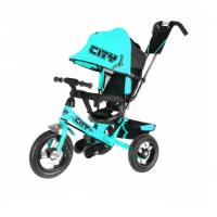 Велосипед детский 3х колесный с ручкой City JW7R / JD7B / JD7T / JD7G c накачивающимися колесами