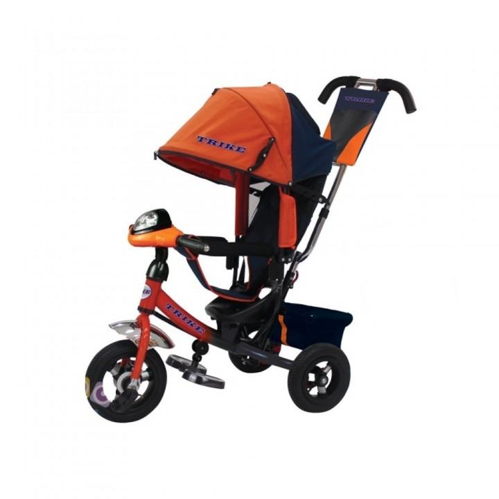 Велосипед детский 3х колесный с ручкой Trike TL2O c накачивающимися колесами