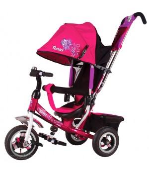 Велосипед детский 3х колесный с ручкой Flower JF7P / JF7R c накачивающимися колесами