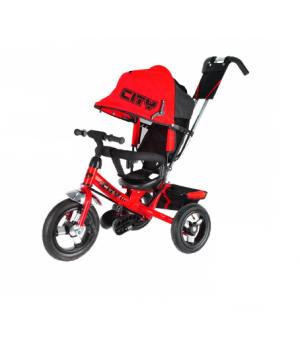 Велосипед детский 3х колесный с ручкой City JD7RB / JD7OB / JD7BB / JD7TB c накачивающимися колесами