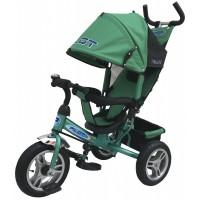 Велосипед детский 3х колесный с ручкой PILOT PTA3Y с большими накачивающимися колесами