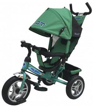 Велосипед детский 3х колесный с ручкой PILOT PTA3Y , РТА3G с большими накачивающимися колесами