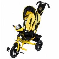 Велосипед детский 3х колесный с ручкой Lamborghini L2Y c накачивающимися колесами