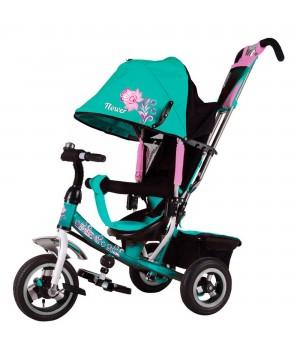 Велосипед детский 3х колесный с ручкой Flower JF7T c накачивающимися колесами