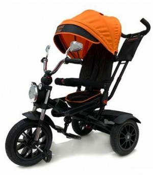 Велосипед детский 3х колесный с ручкой Lexus trike Moto / 11M-N1210P-DBLUE-21/ 11M-N1210P-BLACK-21 с накачивающимися колесами