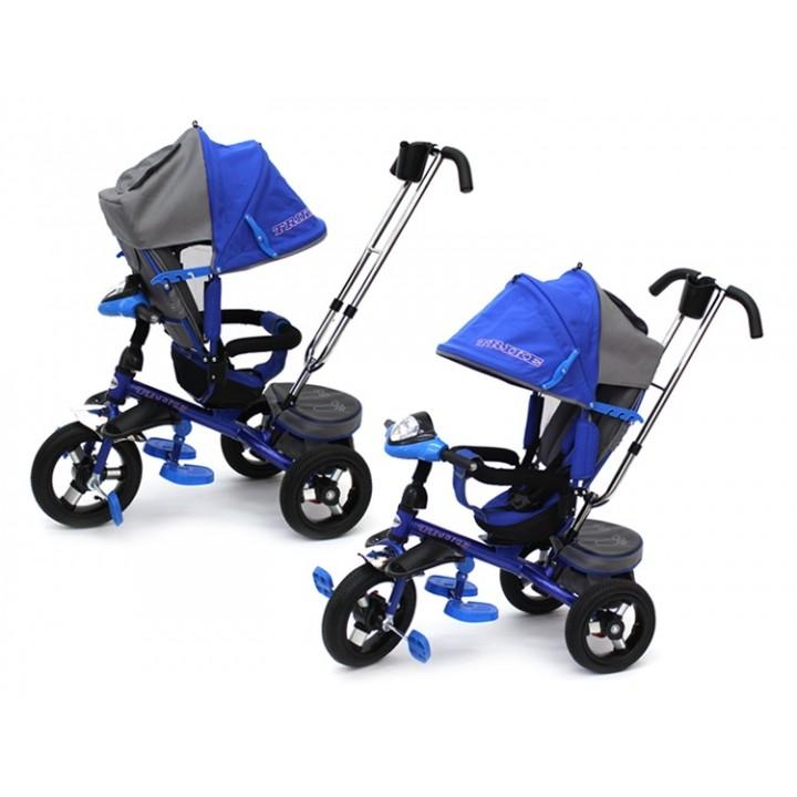 Велосипед детский 3х колесный с ручкой Trike TL4B c накачивающимися колесами