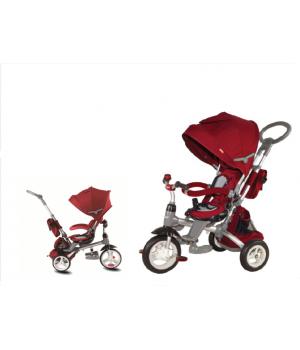 Велосипед-коляска детский 3х колесный с ручкой Power ST10R / ST10B / ST10G с накачивающимися колесами