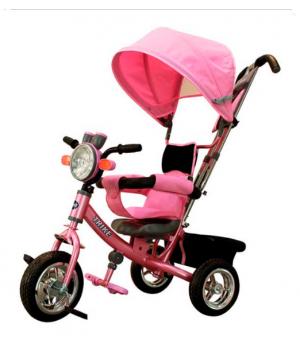 Велосипед детский 3х колесный с ручкой Trike ST1AMP