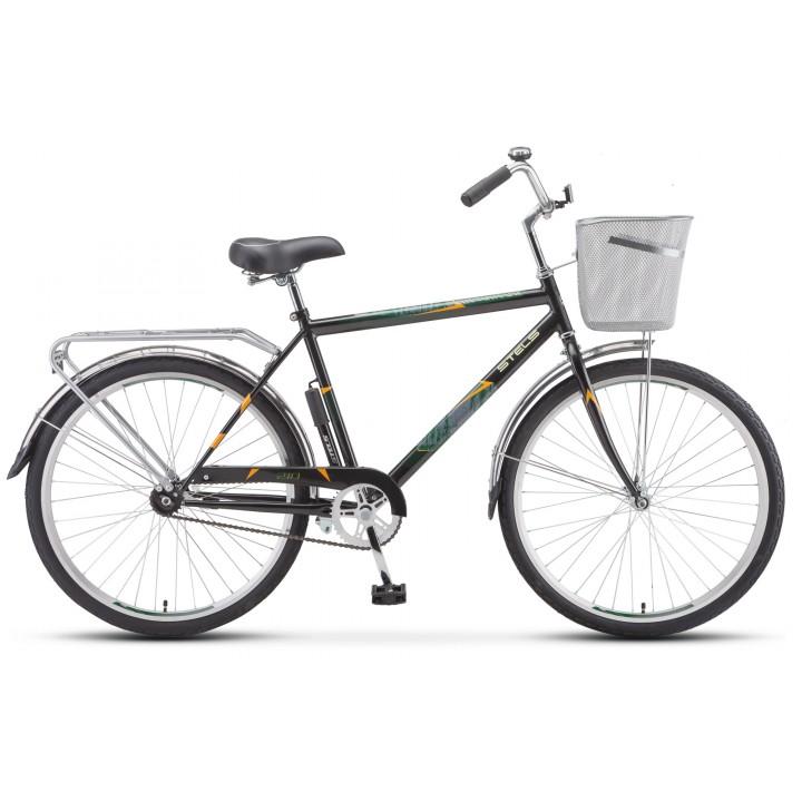 Велосипед дорожный Stels Navigator 210 мужская рама колесо 26, с корзиной