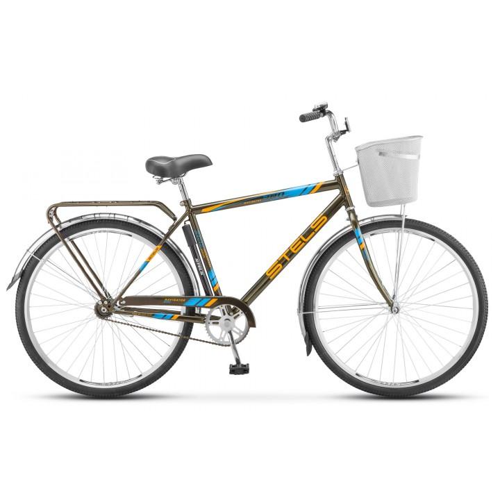 Велосипед дорожный Stels Navigator 300 мужская рама колесо 28, с корзиной
