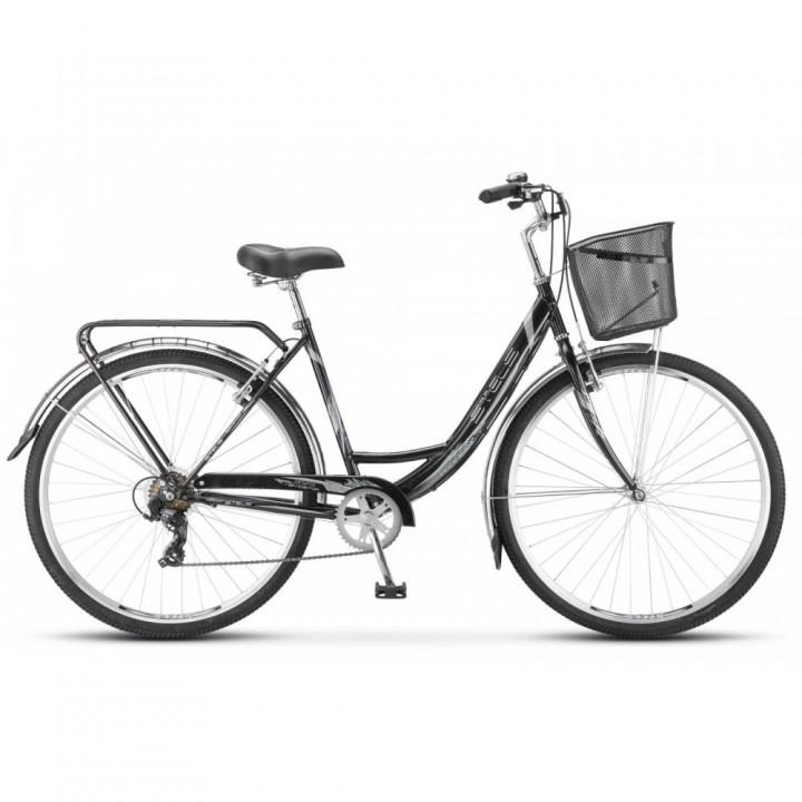 Велосипед дорожный Stels Navigator 395 заниженная рама колесо 28, 7 скоростей, с корзиной