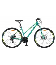 Велосипед гибридный Stels Cross 130MD Lady V010 женская рама колесо 28