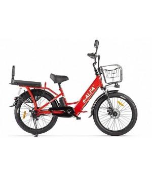 Велогибрид GREEN CITY e-ALFA Fat (Красный-2164)