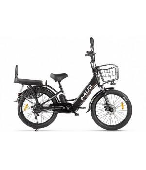 Велогибрид GREEN CITY e-ALFA Fat (Чёрный-2160)