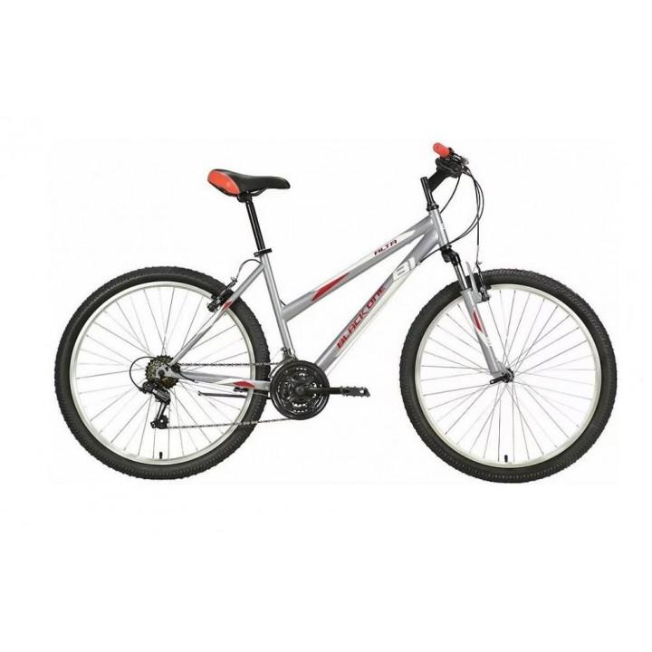 Велосипед горный Black One Alta 26 (2021) cерый/красный/белый