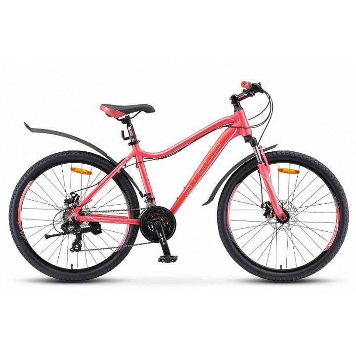 Велосипед горный Stels Miss 6000 MD disc V010 2019г. c дисковыми тормозами ярко-розовый