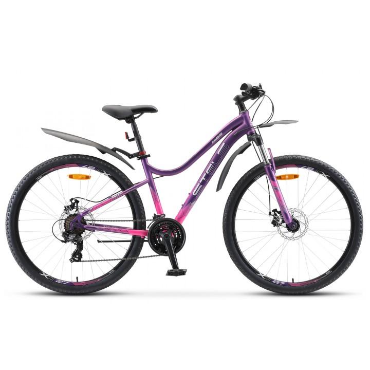Велосипед горный Stels Miss 7100 MD disc 2020г. колесо 27,5 с дисковыми тормозами